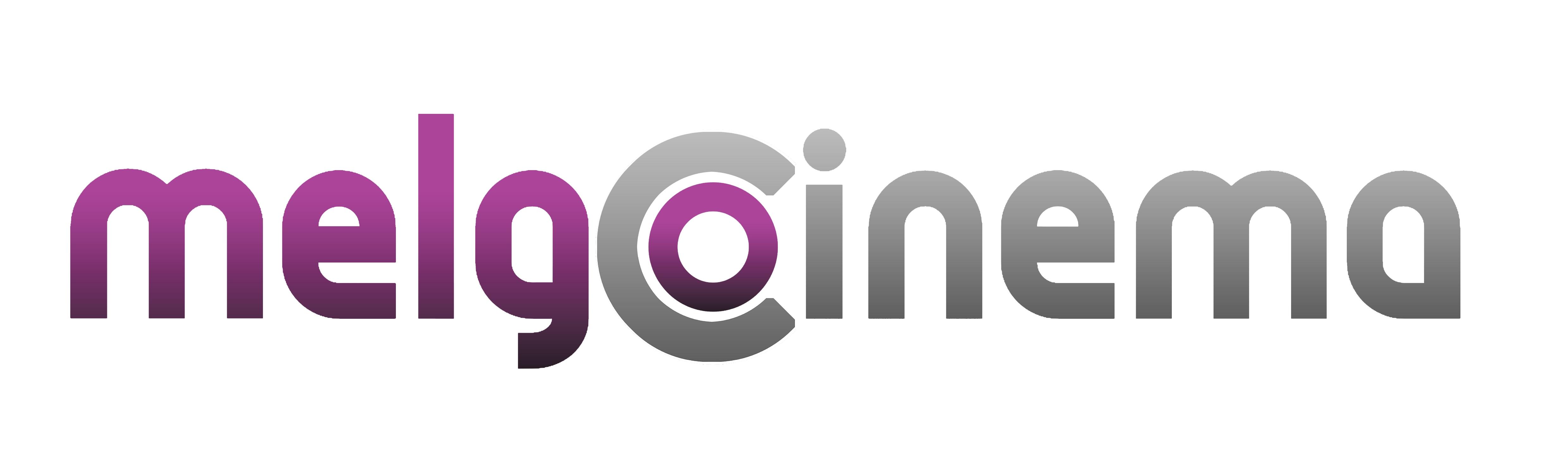 Logo de Melgo Cinema. Cine social.